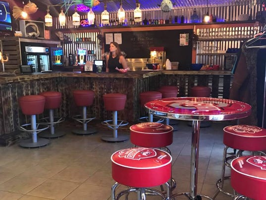 Shark Bar & Grill inside Fort Myers Beach