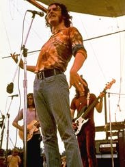 Joe Cocker performs during the Woodstock Music Festival in Bethel in August 1969.