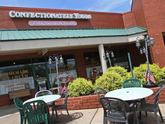 This is the exterior of Confectionately Yours restaurant in the Franklin Park section of Franklin. They make their own ice cream.