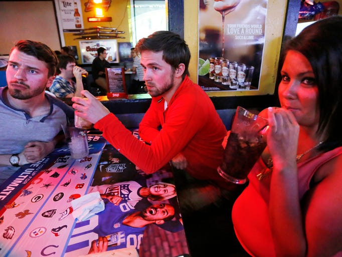 Joe Clifton, from left, Tyler Lower and Jodi Kaufman