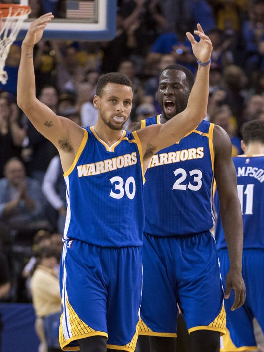 ab3366e6c44 Warriors  Steph Curry following Kevin Durant injury   We ll be fine