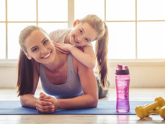 Mother-daughter exercise
