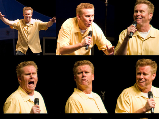 The many faces of Brian Regan, who appears Saturday