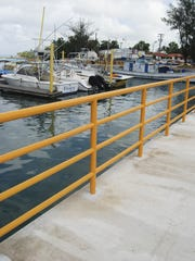 The Gregorio D. Perez Marina in Hagåtña is shown in