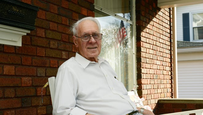 Walter Auxter, 95, was drafted 10 days after registering, and served in the U.S. Army delivering rations and supplies to troops in Europe.