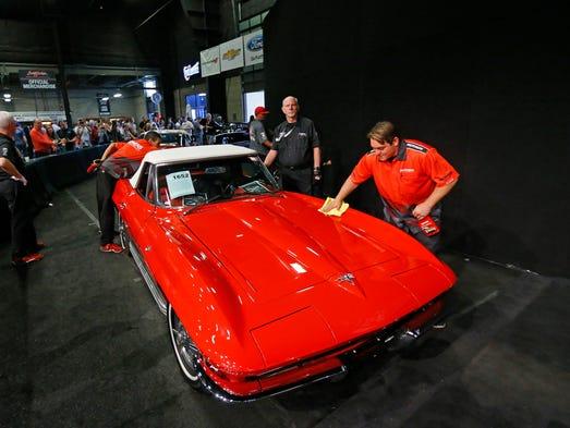 A 1964 Chevrolet Corvette Convertible gets a last minute