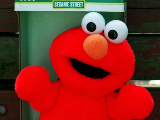 Sesame Street's Tickle Me Elmo was a hot toy for Christmas 1996.