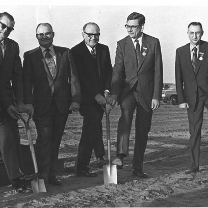 Gathered in 1970  for the groundbreaking for the Munday