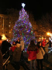 Visitors admire White Plains' official holiday tree
