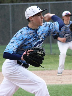 Stevenson senior pitcher Jack Ferguson tossed a complete-game two-hitter Monday against visiting Canton.