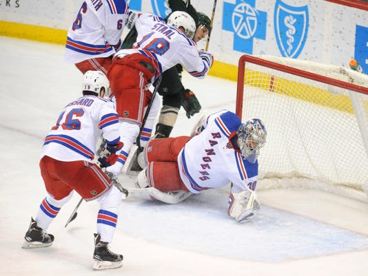 NHL: New York Rangers at Minnesota Wild