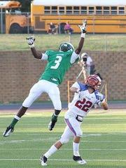 Look familiar? Josh Jackson (3) goes up for a catch during his high school playing days.