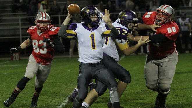 Bloom-Carroll senior quarterback Justin Harvey was earned first team all-league honors and was honored with the Mid-State League-Buckeye Division Ernie Godfrey Award.