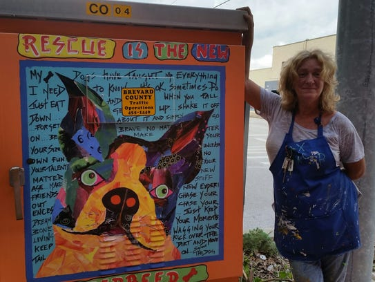 Artist Maxine Trainer.