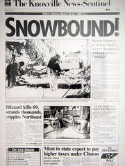 The News Sentinel's March 15, 1993, front page during