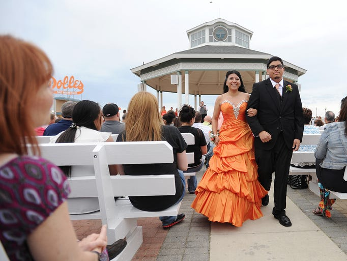 Cape Henlopen High School held their Prom Grand March at the Bandstand in Rehoboth Beach on Saturday May 10th.