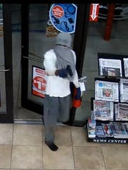Bossier City police seek armed robbery suspect of Circle K in the 2400 block of Barksdale Boulevard..