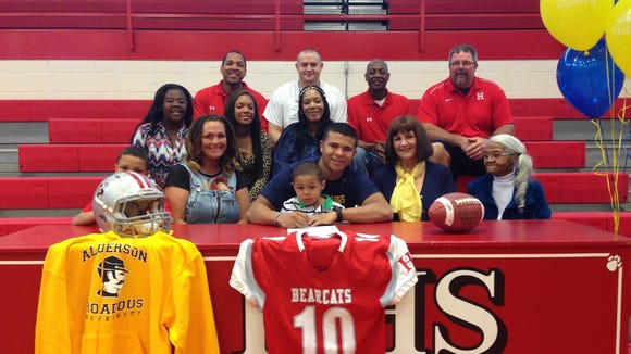 Hendersonville senior Kobey Rudisill has signed to play college football for Alderson Broaddus (W. Va.).
