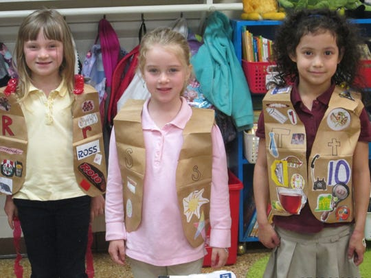 (From left) Elijah White, Emily Crispin and KayLee