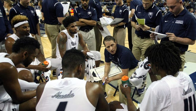 Wolf Pack head coach Eric Musselman leads Nevada against UC Irvine on Wednesday.