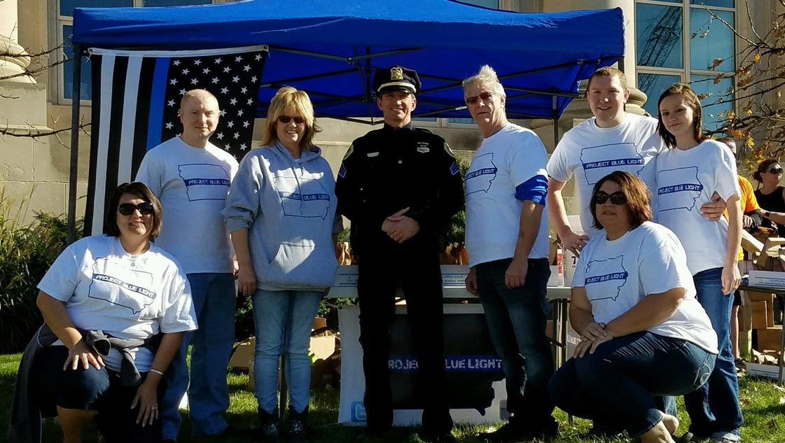 Project Blue Light Iowa distributes thousands of bulbs for police