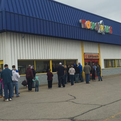 Shoppers waited Friday morning to take advantage of