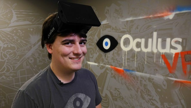 Palmer Luckey, founder of Oculus Rift VR, a virtual reality headset that was the hit of CES 2014.