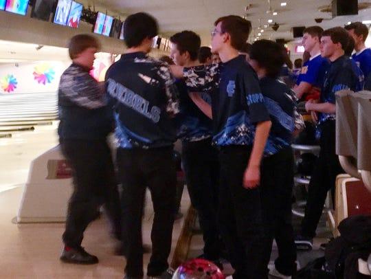 Boone County boys bowling team Dec. 7