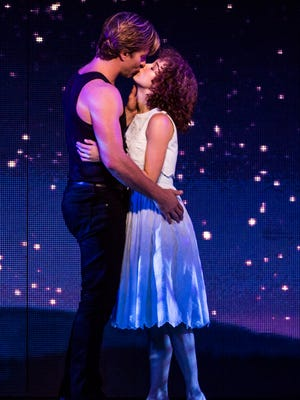 "Christopher Tierney (Johnny) and Bronwyn Reed (Baby) in the North American tour of ""Dirty Dancing — The Classic Story on Stage."""