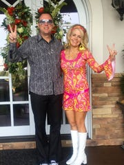 Dr. Alan and Michelle Walker  represented the disco era well for the Party of the Year.