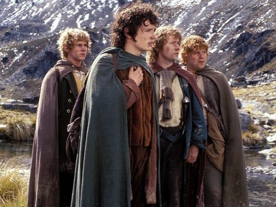 The original hobbits: Dominic Monaghan as Merry; Elijah