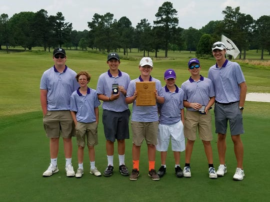 The TCA Middle School golf team recently won the super regional in Millington.