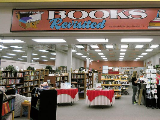 Books Revisited offers is celebrated their fourth anniversary of raising funds for the Alamogordo Public Library. The store is located inside the White Sands Mall, 3199 N. White Sands Blvd.