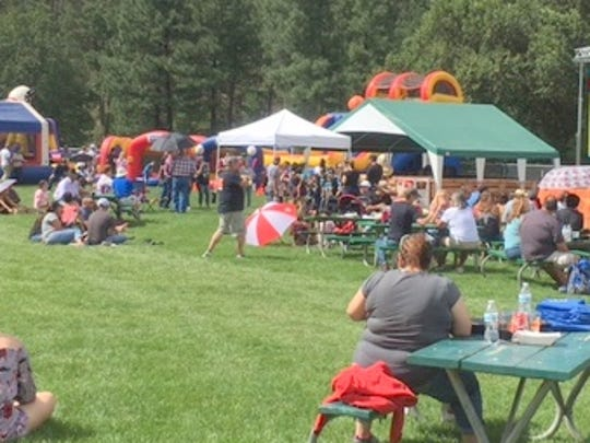 People enjoyed the food, beverages and the setting for Flavor Fest.