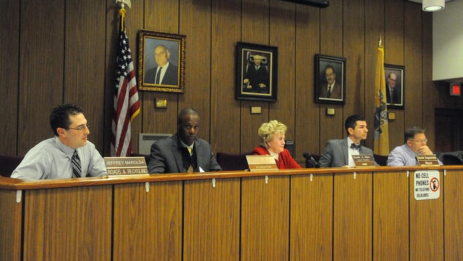 Matthew Walker Sr. (second from left) is the first black councilman in the history of Buena Borough.