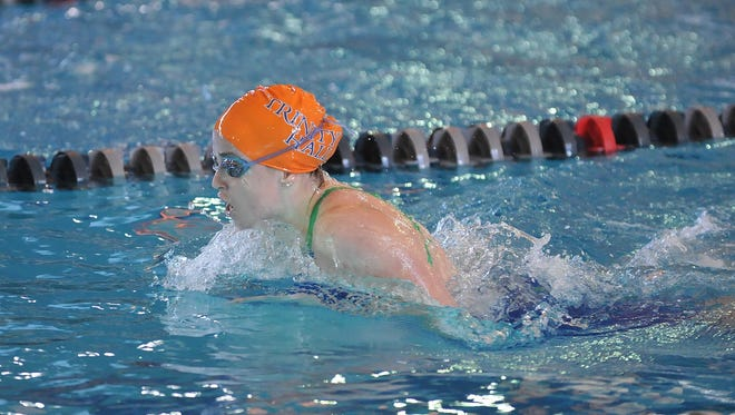 Trinity Hall's Carol Gmelich swims the 200 IM at the NJSIAA swimming Meet of Champions, Sunday, Feb. 29 at Gloucester County Institute of Technology in Sewell.