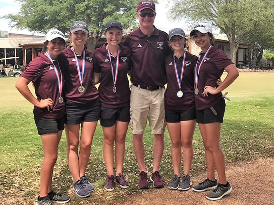 The Bronte girls golf team is made up of Baily Torres,