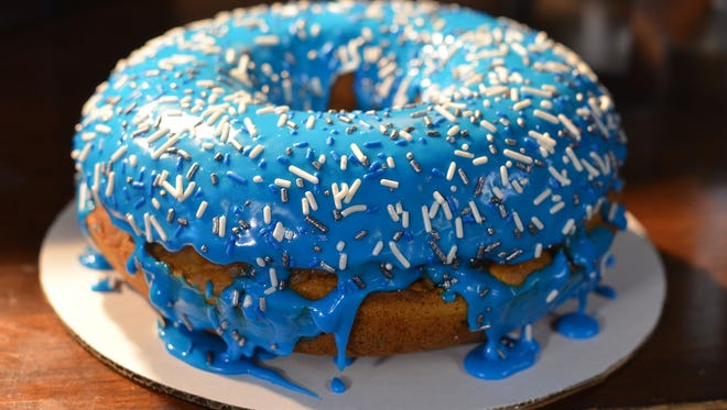 The Michigan Cider Mill Donut weighs four pounds and is nine inches across.