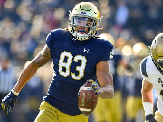 Notre Dame's Chase Claypool would add the element of size to Buffalo's solid stable of wide receivers.