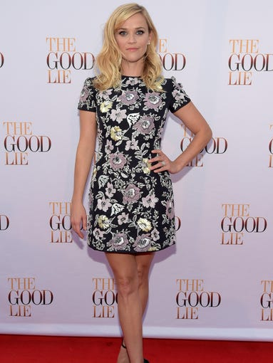 """HOT: Reese Witherspoon walks """"The Good Lie"""" Red Carpet at The Belcourt Theatre on Sept. 19, 2014, in Nashville, Tenn."""