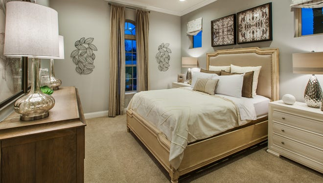 Palazzo at Naples is offering a three bedroom, two-and-one-half bath Cayman Palm Beach home, like the one shown here, that will be move-in ready this fall.
