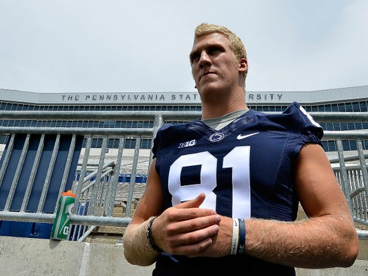 Cedar Cliff High School graduate Adam Breneman missed the entire 2014 Penn State season with an injury. The highly touted tight end says he's fully healthy entering 2015. His father, Brian, is a 1982 graduate of Spring Grove High School.