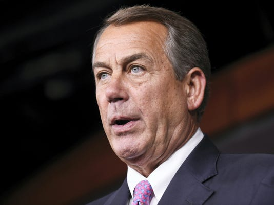 House Speaker John Boehner announced Friday he's resigning from Congress at the end of October.