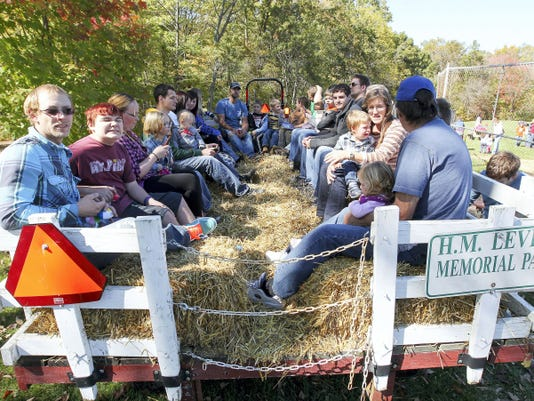 You'll have a chance to take a hay ride during October's First Friday in York.