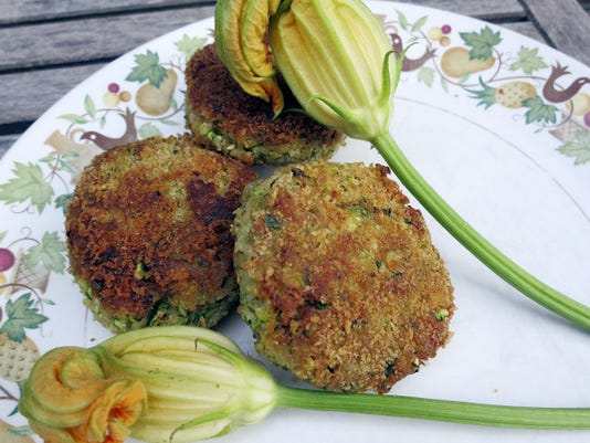 Zucchini cakes turn a somewhat pedestrian vegetable into a crab cake style delight. Try them with corn on the cob and sliced tomatoes for a summery Sunday supper.