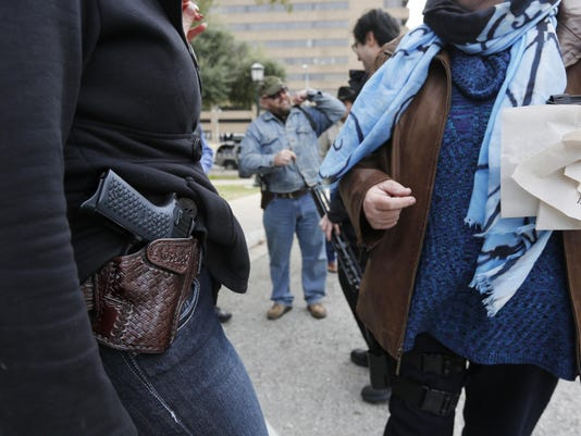 Open carry gun rally in Austin, Texas.