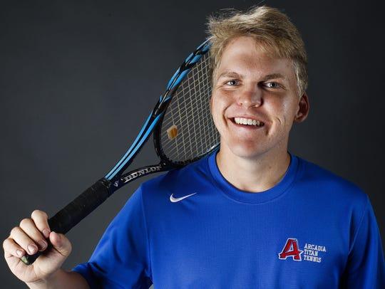 Phoenix Arcadia tennis player Graham Byron is an Arizona