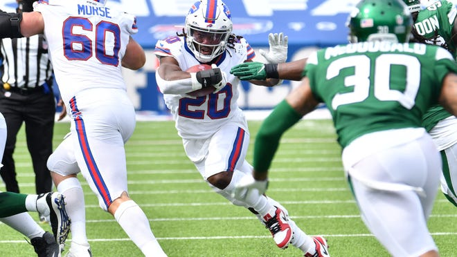 Rookie Zack Moss and the Bills didn't rely on the running game very much against the Jets but there's no question that it will need to be better if the Bills want a balanced attack on offense.