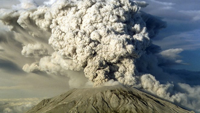 Mount St. Helen's erupts in this July 22, 1980 file photo in Washington State.