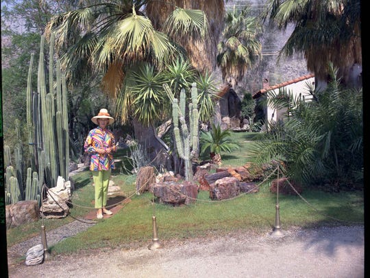 Pat Moorten in the Moorten Botanical Garden.